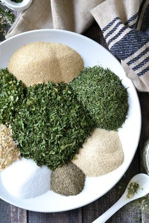 Skip the store bought packets of ranch dressing mix and whip up and easy batch of this dairy-free and paleo Homemade Ranch Seasoning Mix!