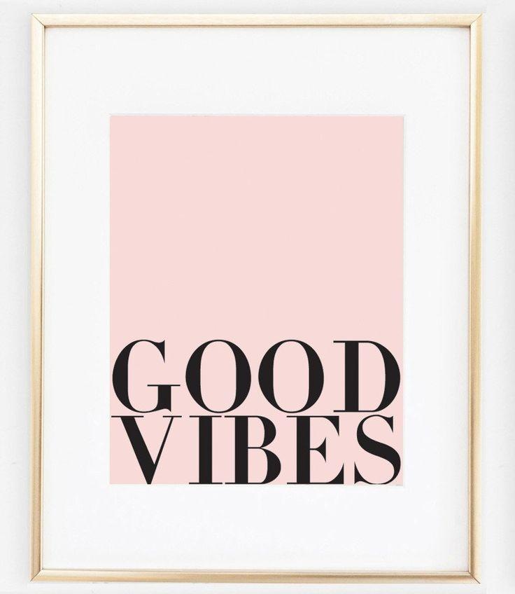 Good Vibes Art | Good Vibes Quote   #print https://bymaria.com/