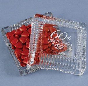 60th Anniversary Party Candy Dishes from Wedding Favors Unlimited