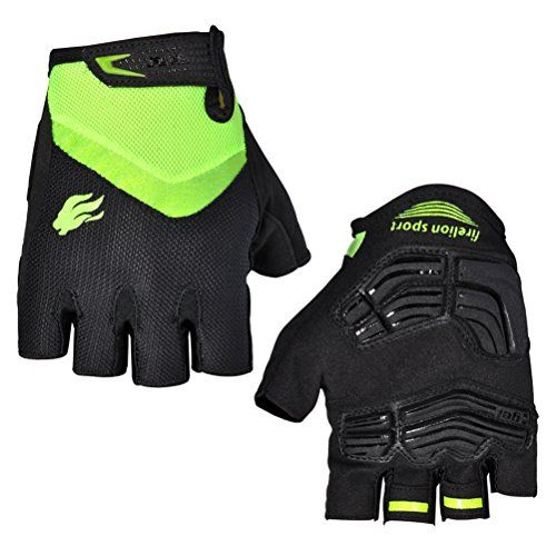 FIRELION Road Bike Gloves Half Finger Cycling Gloves Unisex Mountain Bike Bicycle Gloves,Green,Large Find out more about the great product at the image link.