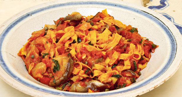 Theo Randall's Tagliatelle with Aubergines