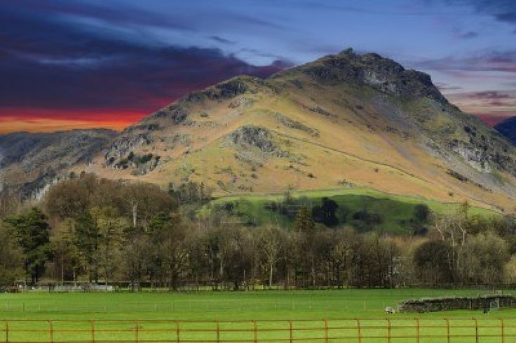 Helm Crag (The Lion and the Lamb) in Lake District National Park Cumbria England