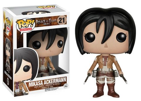 I'm so happy! I got the Mikasa Ackerman vinyl figure(pictured above) today at F.Y.E! I'm so excited!!!! Pop! Animation: Attack on Titan - Mikasa Ackerman | Funko