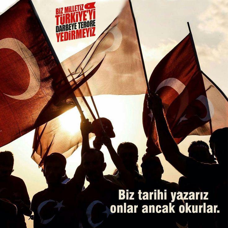 #15Temmuz ☝#Turkey Biz tarihi yazarız onlar ancak okurlar