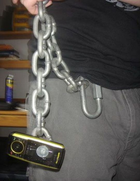 Secure cell phone holder