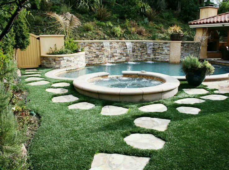 backyard next to the pool advanced grass artificial grass