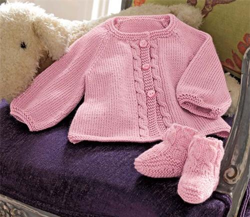 Bergere de France chaqueta y Botines Knitting Pattern