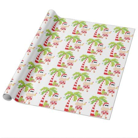 Santa at the Beach Christmas Wrapping Paper - click to get yours right now!