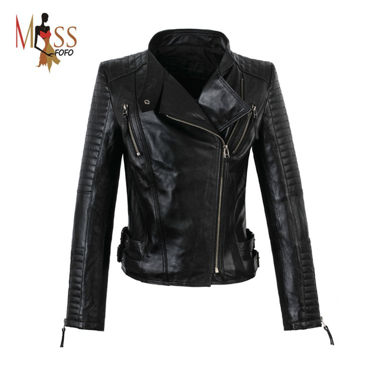 Item specifics Brand Name:JAZZEVAR Material:Genuine Leather Style:Fashion Sleeve Length:Full Clothing Length:Short Collar:Mandarin Collar Closure Type:Zipper Decoration:Zippers Gender:Women Outerwear