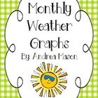 These monthly weather graphs are perfect for your calendar time!  They can also be used in individual student calendar binders or folders....