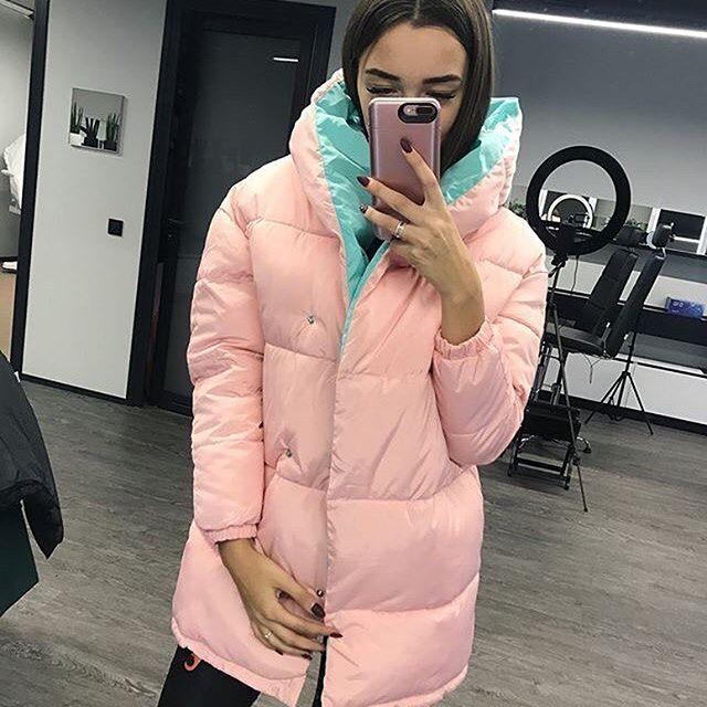 ЗИМА ❤️А мы уже влюбились в наши новые курточки-зефирки очень тёплые   теперь ещё и пудровая  ,размеры с , м, л, длина куртки -83 см, Цена 670 грн ❤️