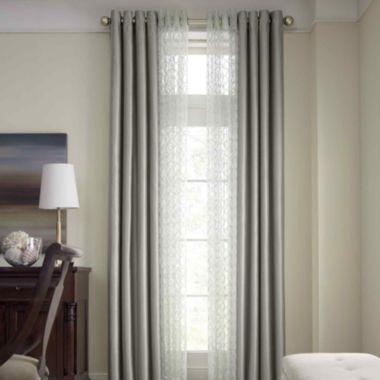 Royal Velvet Plaza Grommet Top Lined Blackout Curtain Panel