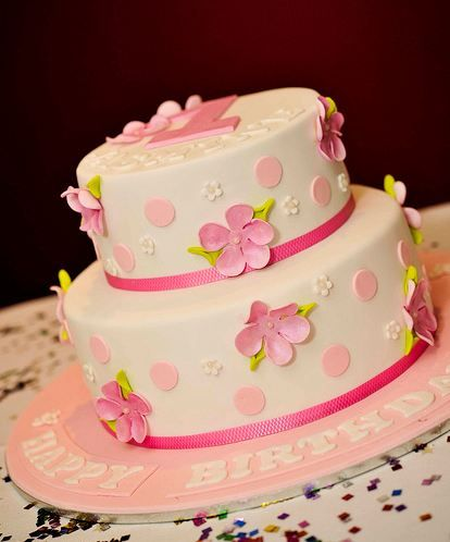 Girls Birthday Cakes With Flowers Google Search