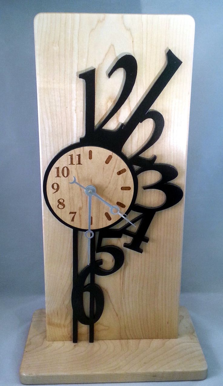 best  contemporary mantel clocks ideas on pinterest  mantel  - unique contemporary maple wood mantel clock with abstract numbers