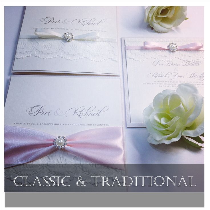 Luxury Stylish wedding invitations handmade in the