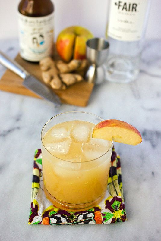 Ginger Apple Kombucha Cocktail