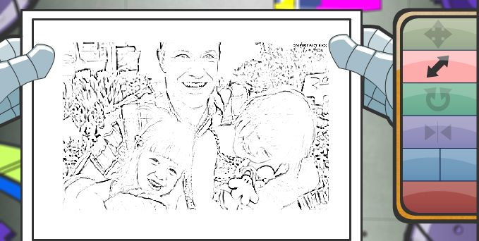 Crayola lets you upload a photo of the family, then print a custom coloring page. Awesome for Father's Day!