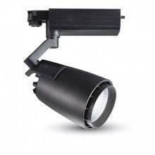 33W 3-fase LED Skinnespot - Sort