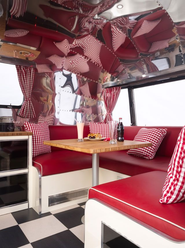 Uk airstream - upholstery   Vintage Campers   Pinterest   Airstream, Vintage trailers and Camping