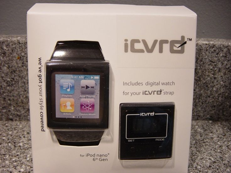 icvrd ipod nano watch carrier for ipod nano 6th generation includesdigital watch | eBay