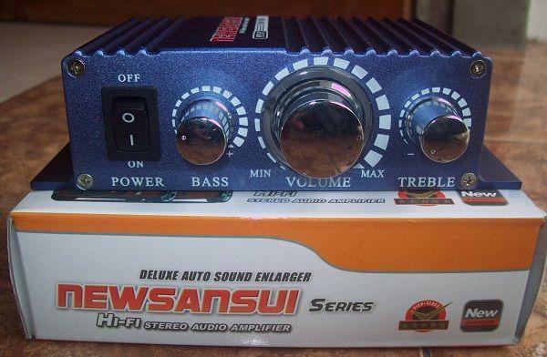 Bagi pengendara sepeda motor yang ingin melengkapinya dengan amplifier stereo untuk memperoleh suara lebih keras maka player Anda bisa ditambahkan amplifier stereo ini.Anda tinggal menambahkan MP3/Radio Player ke perangkat amplifier mungil ini.