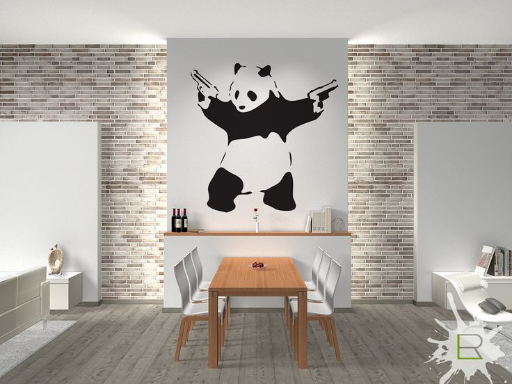Naklejka Banksy Panda