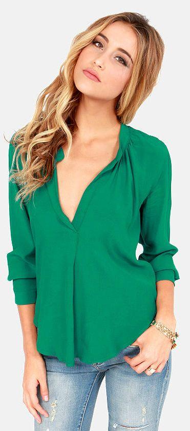 Emerald Green Top <3