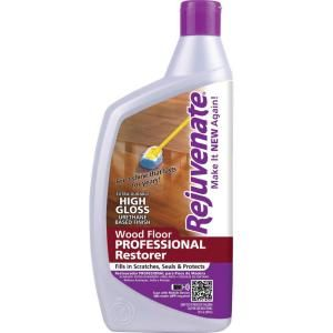 Rejuvenate 32 oz. Professional High Gloss Wood Floor Restorer-RJ32PROFG at The Home Depot.  This product line worked miracles on our dull hardwood floor.  So worth the money!
