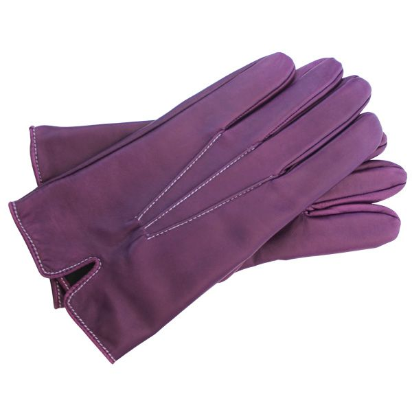 Gants cintrés Hurbane - cuir violet
