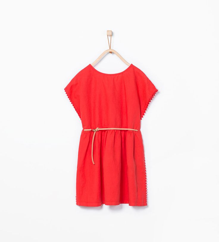 Loose dress with belt-View all-Dresses-Girl (3-14 years)-KIDS | ZARA United States