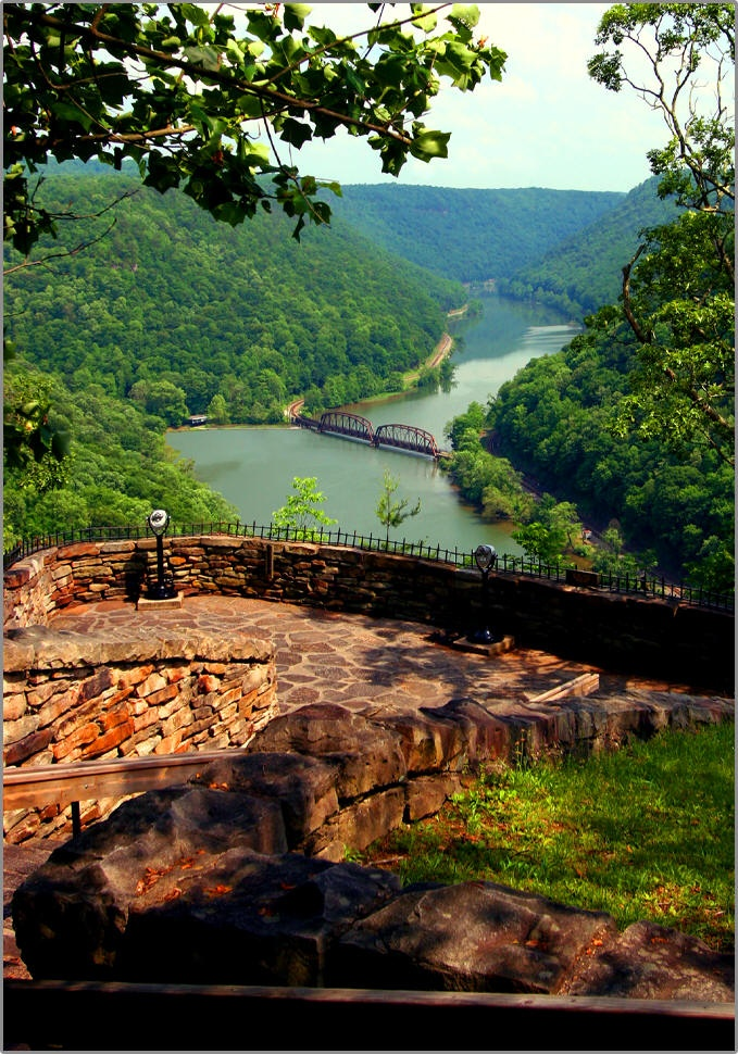 Hawk's Nest, WV.  My family would stop on the way to my grandparent's house.  Occasionally go to lunch there.  Overlook beautiful!
