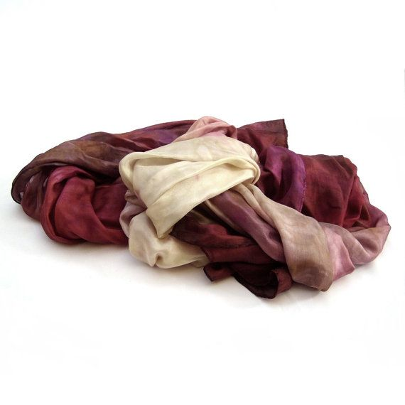 Fall shades scarf fall silk scarf long silk scarf by HEraMade #ombrescarf #silkscarf #elegantscarf #sharong #forwomen #fallshades #autumnlove