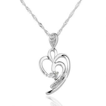 Unsure Heart 18 Karat Gold Plated Necklace