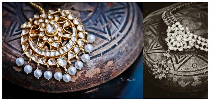 mughalic mang tikka # pearl droppings