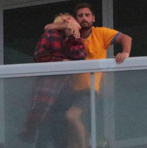 The PDA continues! Scott Disick and Sofia Richie photographed smooching on their hotel balcony in Miami  Scott Disick 34 and his19-year-old girlfriend Sofia Richie pictured all loved up at their Miami hotel.