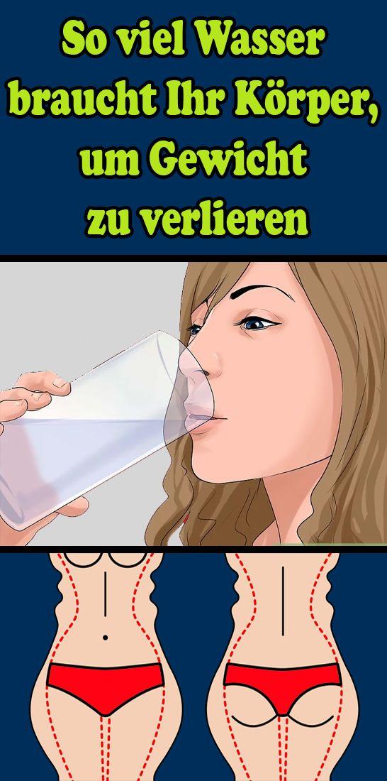 So viel Wasser braucht Ihr Körper, um Gewicht zu verlieren