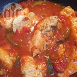 Recipe photo: Turkey steaks in chunky tomato sauce