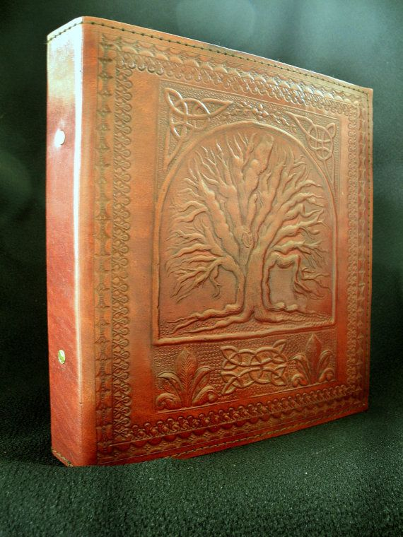 A5 Ring Binder - Hand-Tooled Leather - Celtic Tree of Life Design - Freepost UK