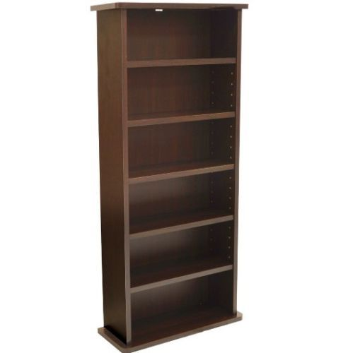 Media-Storage-Rack-CD-DVD-Blu-Ray-Wooden-Wall-Mounted-Cabinet-Shelves-Stand