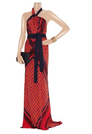 Vionnet - Printed silk gown