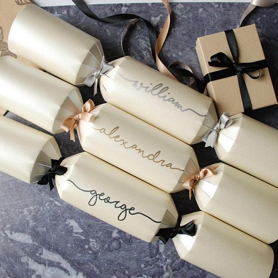 Christmas cracker wedding invitations