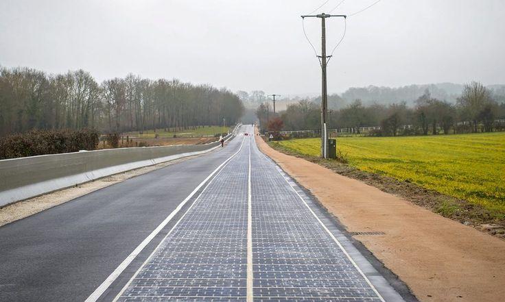 Primeira rodovia de painéis solares do mundo é inaugurada na França