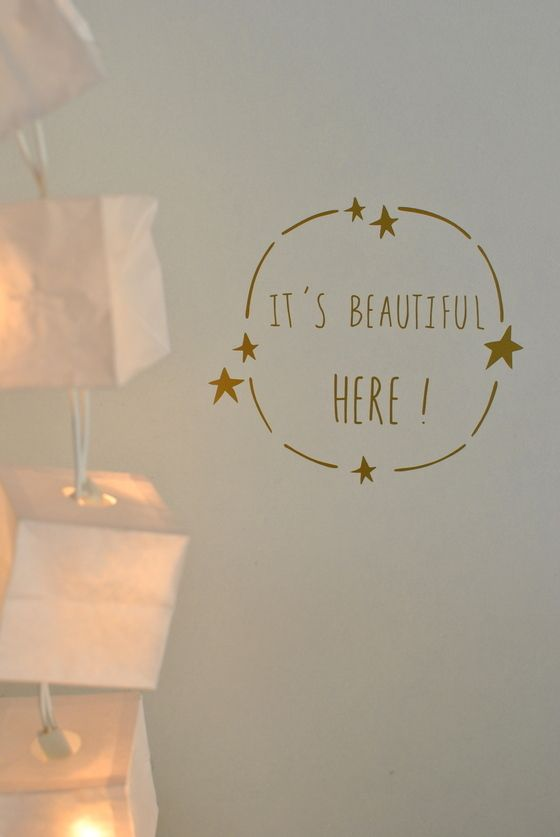 "Image of sticker ""It's beautiful here!"""