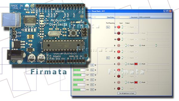 Firmata - Control Arduino through Processing without needing to continually burn new sketches on the Arduino