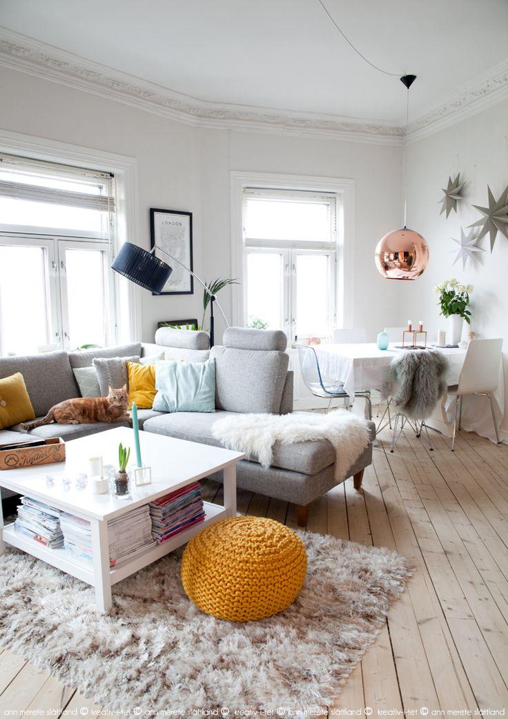 Livingrom yellow+mint, KREATIV-I-TET interior blog