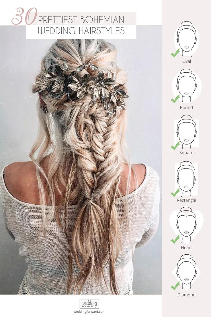 42 boho wedding hairstyles | wedding hairstyles & updos