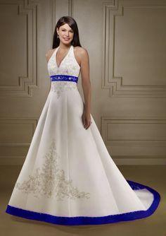 http://dyal.net/blue-and-white-wedding-dresses Blue and White Wedding Dress
