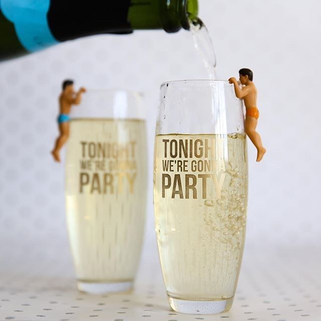 Tonight we're gonna party stemless champagne glass
