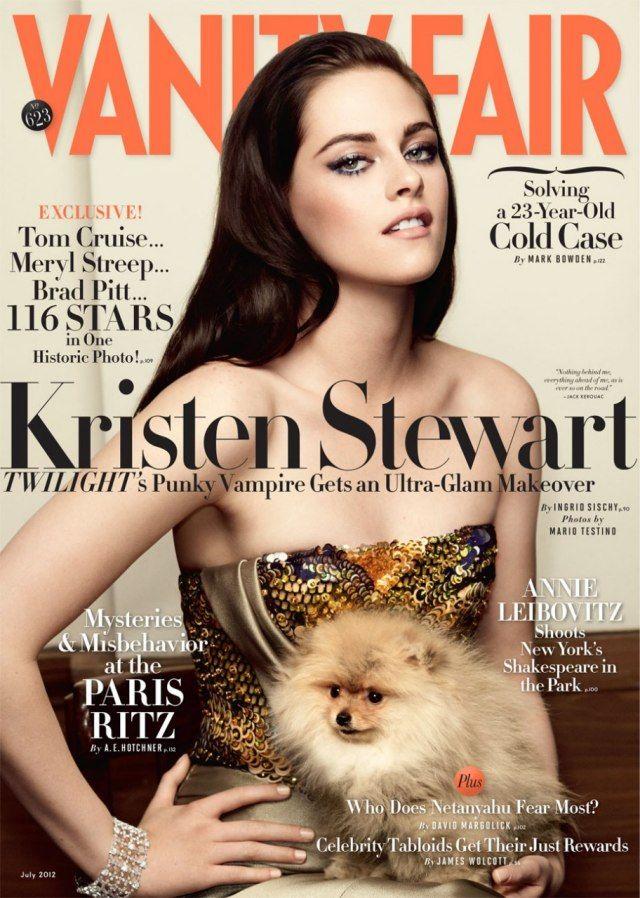 Kristen Stewart  portada de Vanity Fair JulioMario Testino, Vanities Fair, Vanity Fair, Fair July, Kristen Stewart, Magazines Covers, July 2012, Vanityfair, Kristenstewart