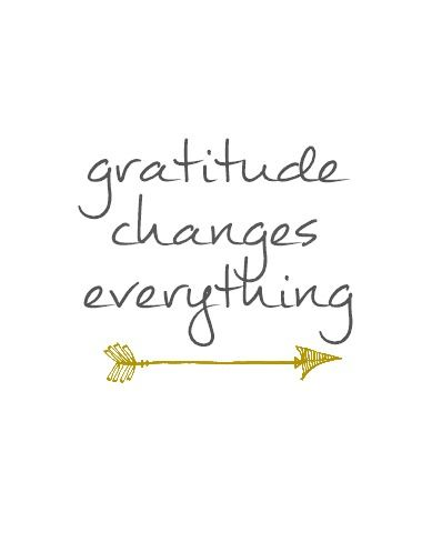 Gratitude Changes Everything Free Printable Gray & Gold: